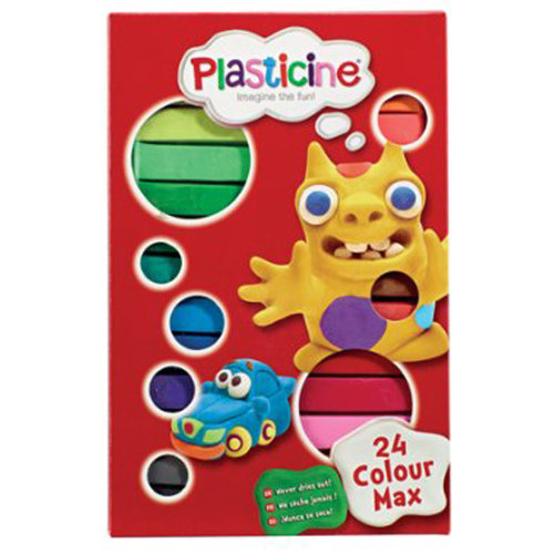 Plasticine Basix 24 Colour Pack
