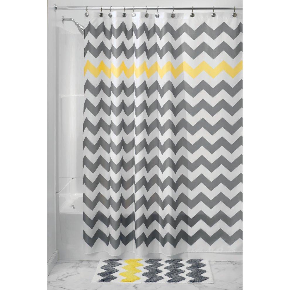 MDesign Chevron Fabric Shower Curtain
