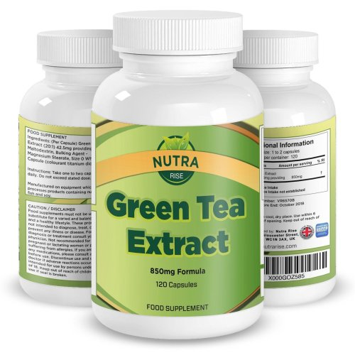 Green Tea Extract for Dieting and Slimming, 850mg Green Tea Capsules with ECGC to Burn Fat, Maximum Strength Supplement for Fast Weight Loss,...