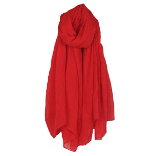 Womens Fashion Solid Scarves Comfortable Scarf Shawl Wrap Neck Wear, Red