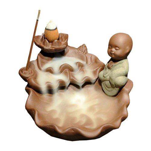 Incense Burner Ceramic Backflow Cones Sticks Holder