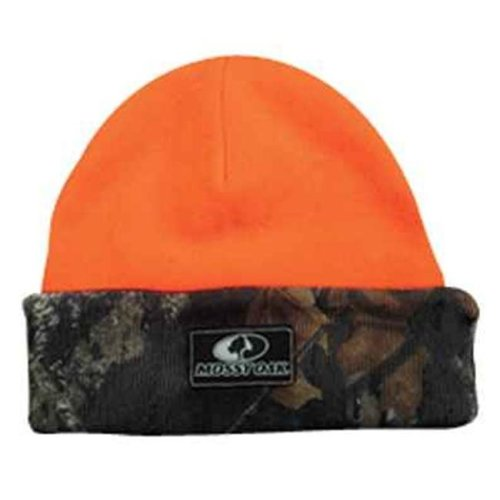 Outdoor Cap MOFS06KN Outdoor Cap Mossy Oak Logo Cap Breakup-Orange Reversible Knit 1-Size