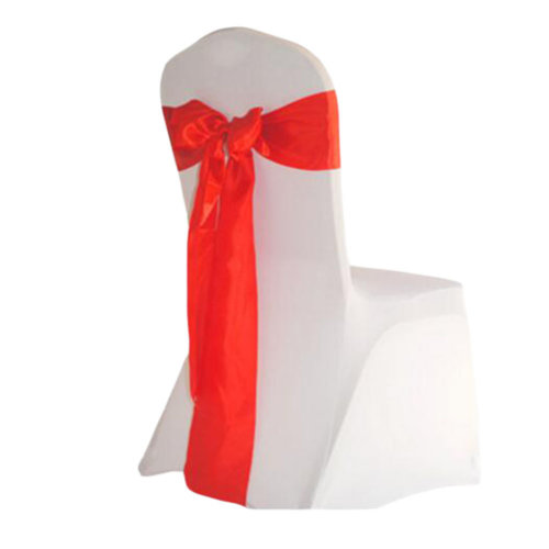 10PCS Wedding Anniversary Ribbon Elegant Chair Cover Bands Decor-Red