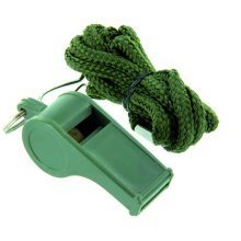 Highlander Whistle - Green with Neck Cord
