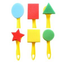 Early Learning Mini Sponge Painting Brushes Painting Tools for Kids [C]