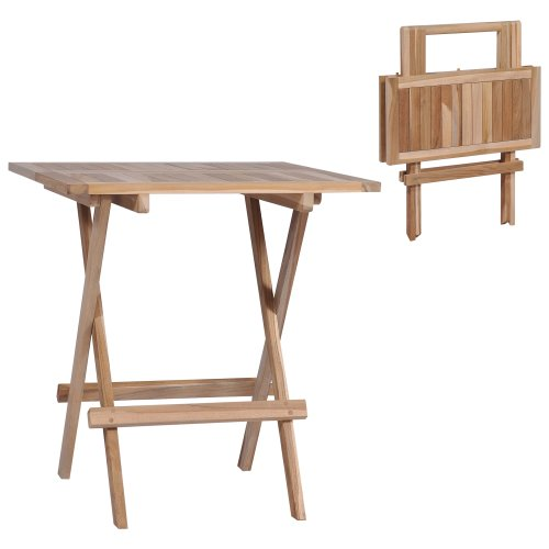 vidaXL Folding Bistro Table Solid Teak 60x60x65 cm