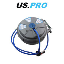 US PRO 15 Meter Wall Mounted Retractable Air Hose Reel 8183