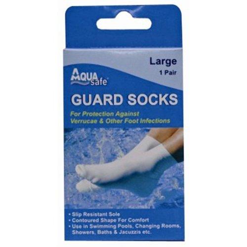 Large Verruca Protection Swimming Sock - Guard Socks Aqua Safe Pool Rubber -  guard socks aqua swimming verruca large safe pool Rubber waterproof