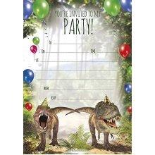 Birthday Party Invitations A5 Size Prehistoric Dinosaur Theme - Pack 20