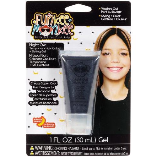Funkee Munkee Colored Hair Gel 1fl oz-Nightowl Black