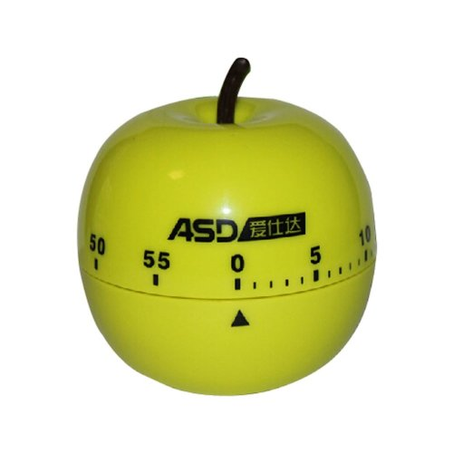 Creative Apple Mechanical Movement Kitchen Timer/Reminder-60 Minutes GREEN