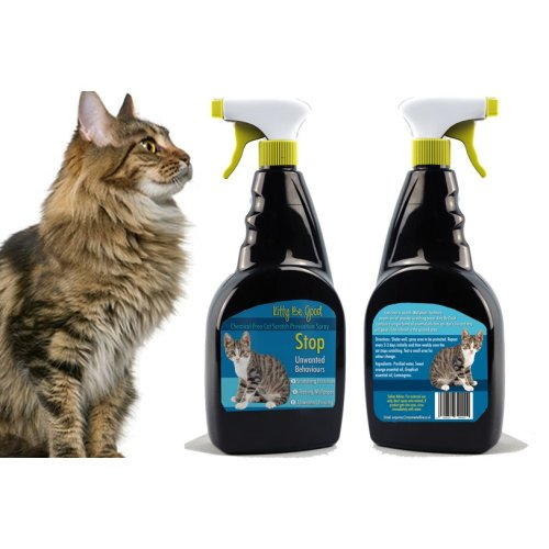Kitty Be Good Cat Anti Scratch Spray Furniture Wallpaper Carpets 500ml