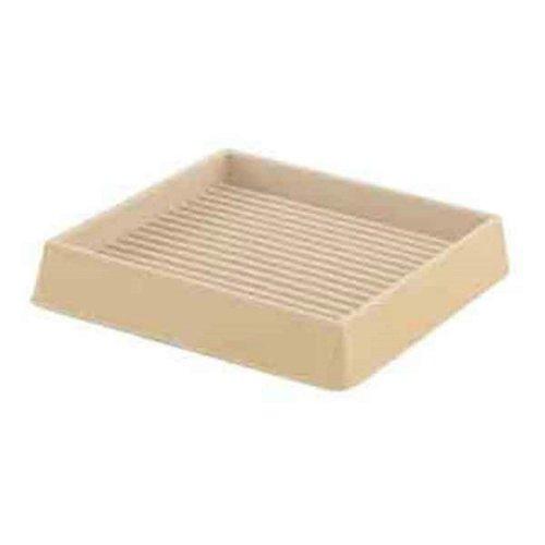 "Rubber Furniture Rest Square Castor Cup 75mm (3"") Castor Cups Pack 2"
