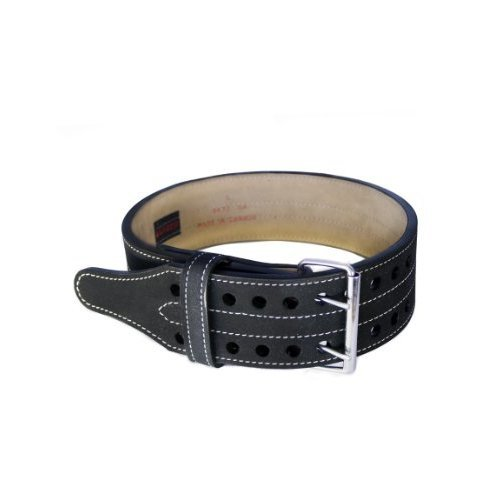 Grizzly Fitness Double Prong Power Lifting Belt Black Medium