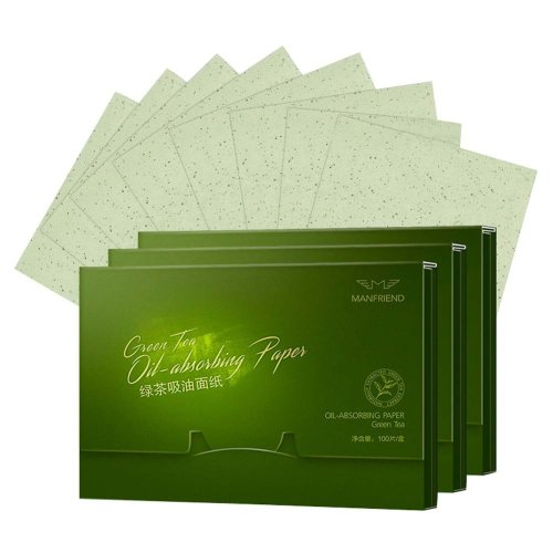 300 Sheets Green Tea Facial Oil Control Absorption Film Tissue Blotting Paper