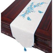 New Tea Ceremony Cloth Curtain Cotton Tea Table Flag Placemat Tea Chinese Custom