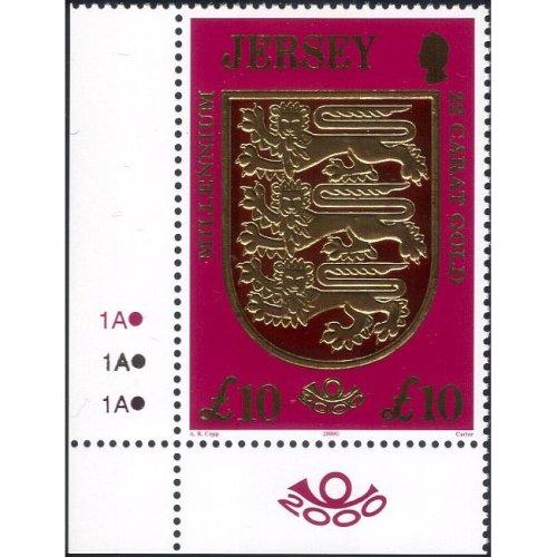 Jersey 2000 Millennium/ Lions/ Crest/ Gold Leaf/ Embossed 1v (n27076)