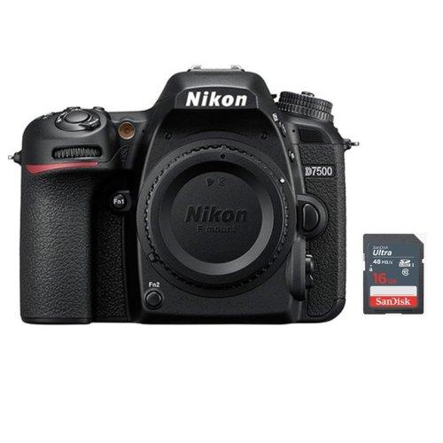 NIKON D7500 Body + 16GB SD card