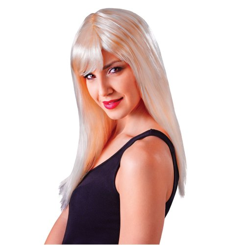 Long Blonde Passion Wig With Fringe -  fancy dress long accessory passion blonde wig wigs colours costume all ladies