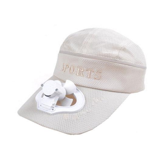 Summer Fan Hat with Fan Fishing Sun Visor Cap#L