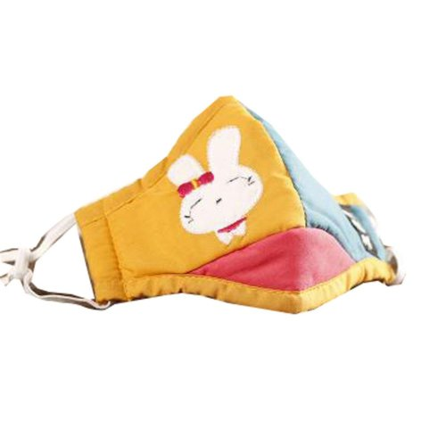 PM2.5 Children's Mask For Anti-smog Of N95 Activated Carbon (Yellow Of Rabbit)