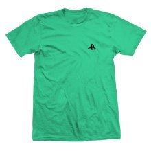 Playstation Green with Small Pocket Logo T-Shirt