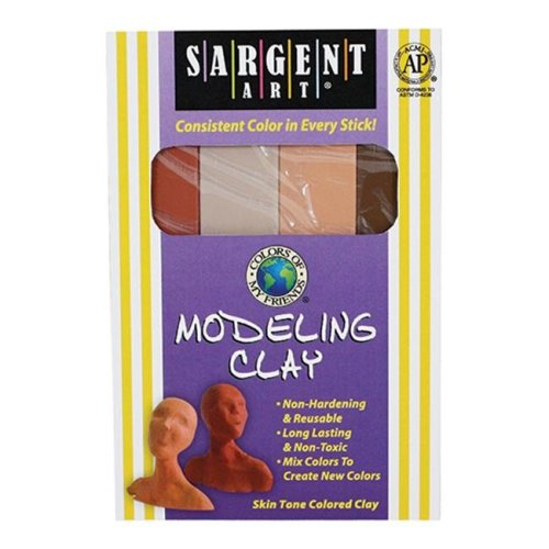 SARGENT ART INC. SAR224044 SARGENT ART COLORS OF MY FRIENDS MODELING CLAY