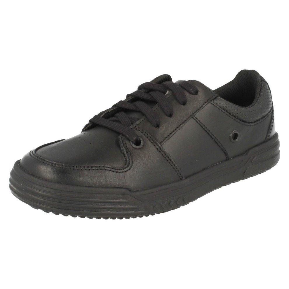 Clarks Smart School Boys Shoes Jack Spring Black Leather UK 10.5 F