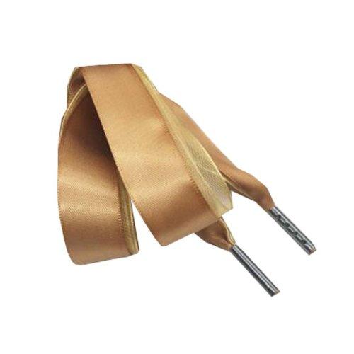 Women Fashion Satin Ribbon Shoelaces, Shoe Laces For Solid Color Shoes 120cm - B