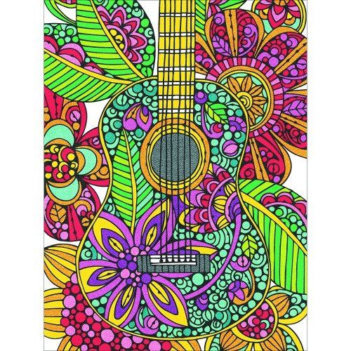 Dpw91537 - Paintsworks Pencil by Numbers - Blooming Guitar