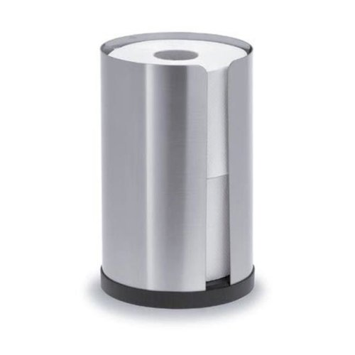 Blomus 68410 stainless steel matt toilet roll holder for 2 rolls