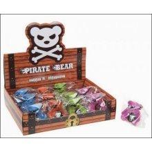 Pirate Bear Eraser & Sharpener - Cute Pencil 2 1 Backpack Canister Case Kids -  cute pirate bear pencil sharpener eraser 2 1 backpack canister case