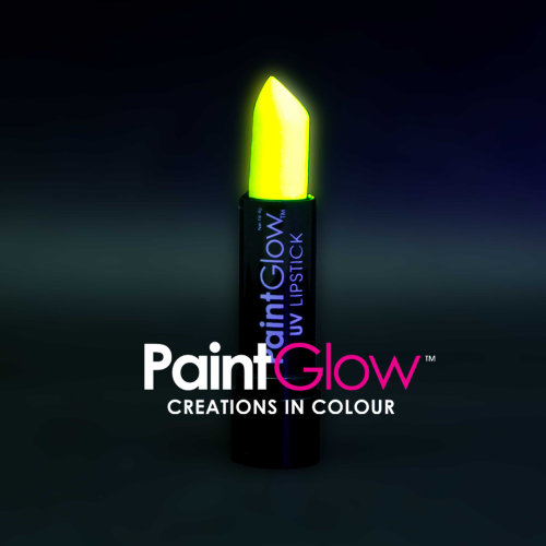 Uv Lipstick, Yellow, 4g - Lipstick Neon Glow Fluorescent Make Up Paintglow -  uv lipstick neon glow fluorescent make up paintglow party bright yellow