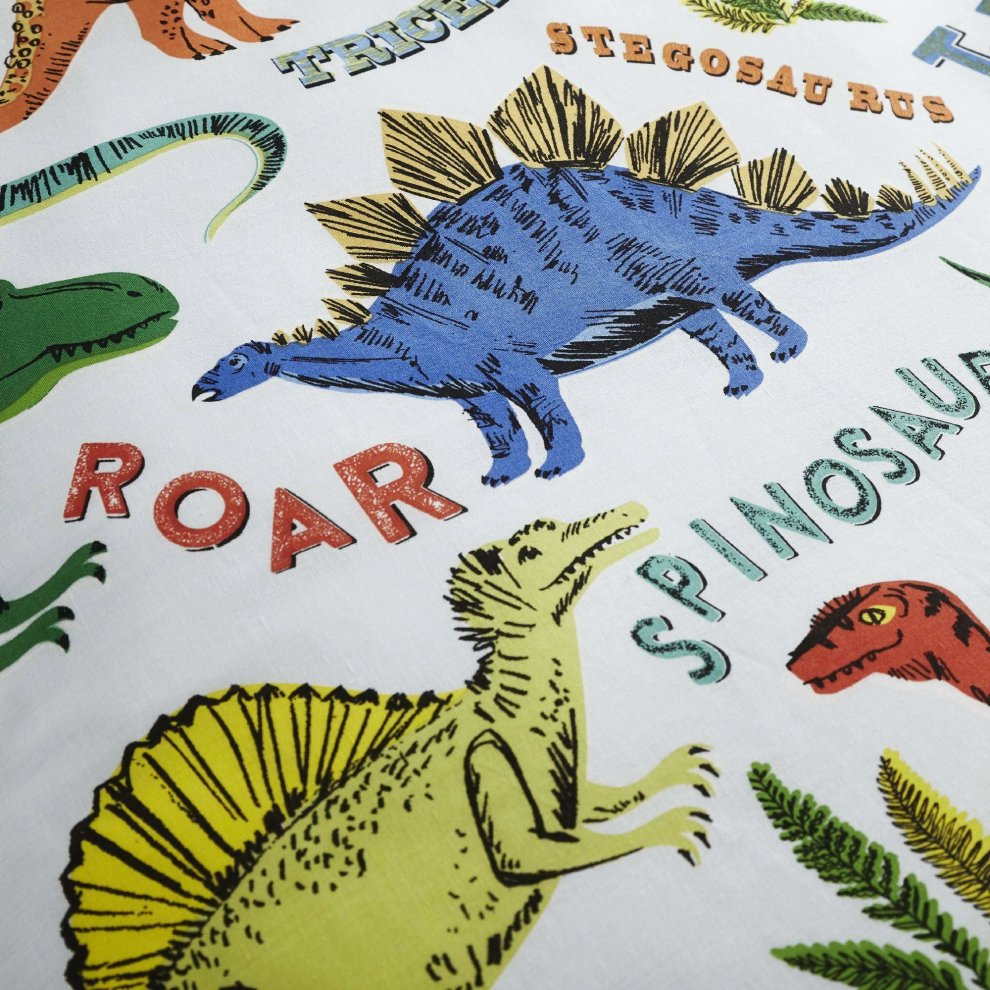 Happy Linen Company Childrens Girls Dinosaur Park Jurassic Pink T-Rex Dino...