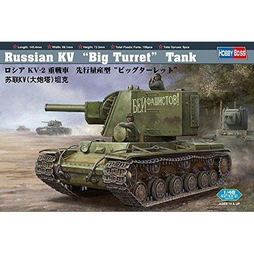 Hobby Boss Russian KV Big Turret Tank Vehicle Model Building Kit