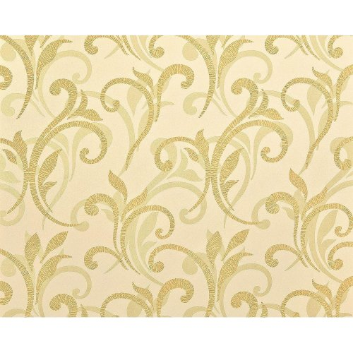 EDEM 928-22 non-woven floral wallpaper XXL abstract flowers gold beige 10.65 sqm