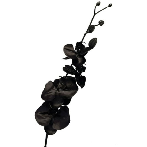 Artificial Black Orchid - 91cm - Silk Black Flowers - Fake Orchids