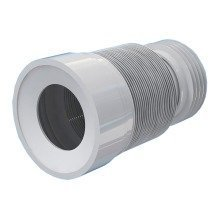 230-500mm Toilet Wc Flexible Toilet Waste Pipe Connector Extension Harmonica Water Outlet