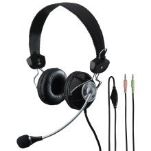 Headset - Stereo Headphones With Electret Boom Microphone