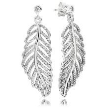Pandora Shimmering Feathers Earrings - 290584CZ