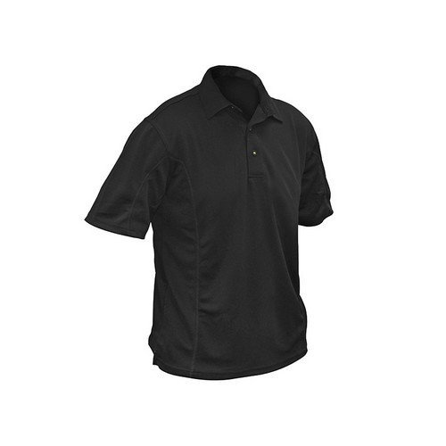 Roughneck Clothing 95-003 Black Quick Dry Polo Shirt 42-44in - L
