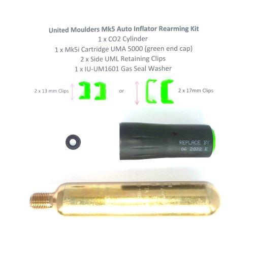 Lifejacket Rearming Kit  UML Mk5 Inflator  33g CO2