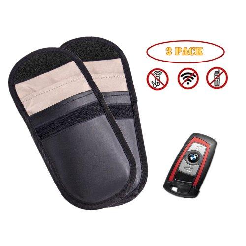2* Car Key RFID Signal Bloking Case, TAIKUU Singal Blocker Pouch Bag for Keyless Entry Fob Guard, Antitheft Lock Device, Healthy Cell Phone Privacy...