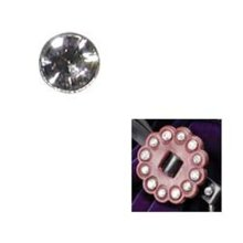 5mm Clear 10 Pack Of Crystal Rivets -  5mm clear 10 pack crystal rivets synthetic pk leathercraft tandy
