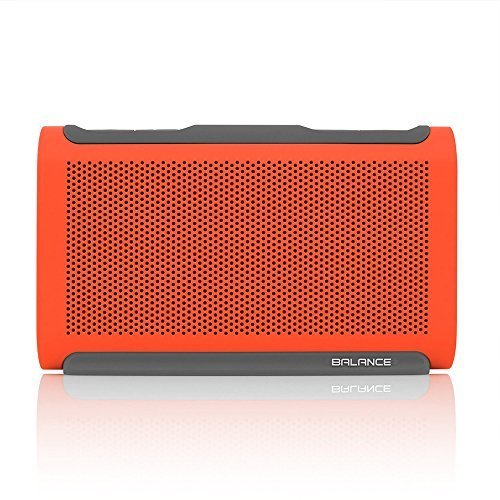 BRAVEN BALANCE Portable Wireless Bluetooth Speaker 18 Hour Playtime Waterproof Built In 4000 mAh Power Bank Retail Packaging Orange