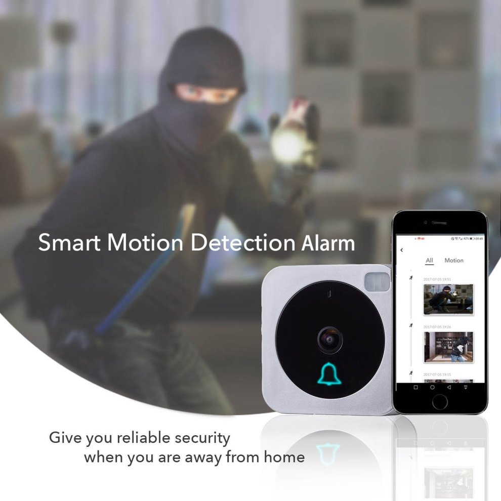 Wifi Video Vuebell Doorbell Camera 720P HD Cam,Cloud Storage on OnBuy