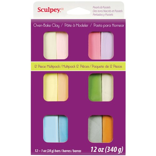 Sculpey III Polymer Clay Multipack 1oz 12/Pkg-Pastels