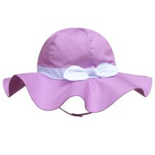 Children's Outdoor Sun Beach Hat With Bow For Baby Girls(Purple)