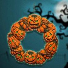 Halloween Spooky Wreath Door Hanger Hanging Prop Home Decor