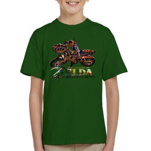Zelda Breath Of The Wild Motorcycle Kid's T-Shirt